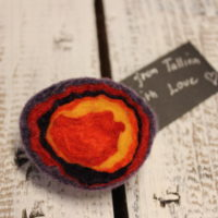 Felted eye